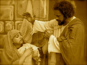 Jesus prays for healing