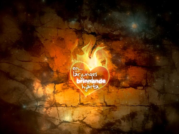 En lärjunges brinnande hjärta design.020